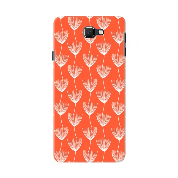 Orange Floral Pattern Set03