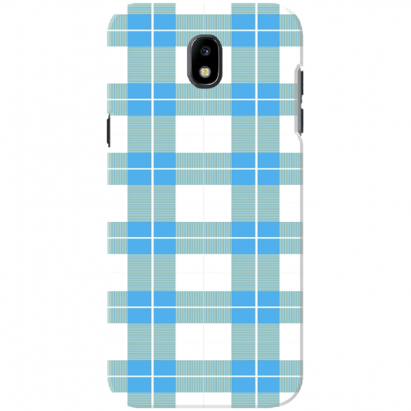 Blue & White Flannel Checked Pattern 8