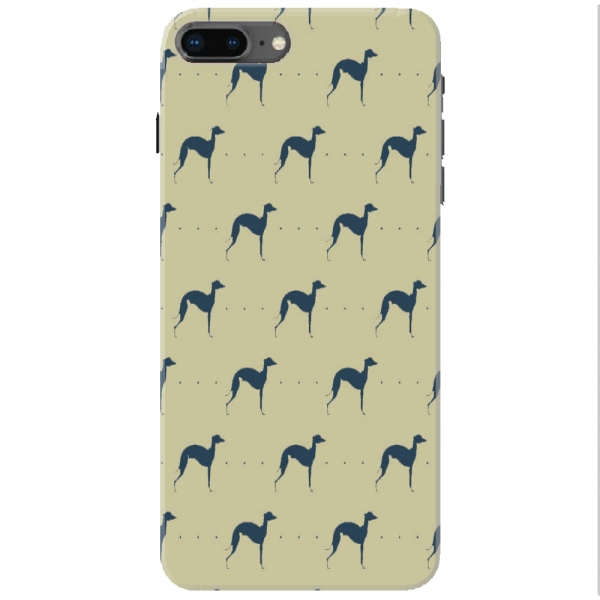 Repeating Whippet Dog Icon Pattern01