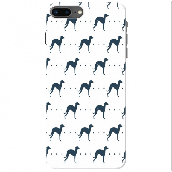 Repeating Whippet Dog Icon Pattern02