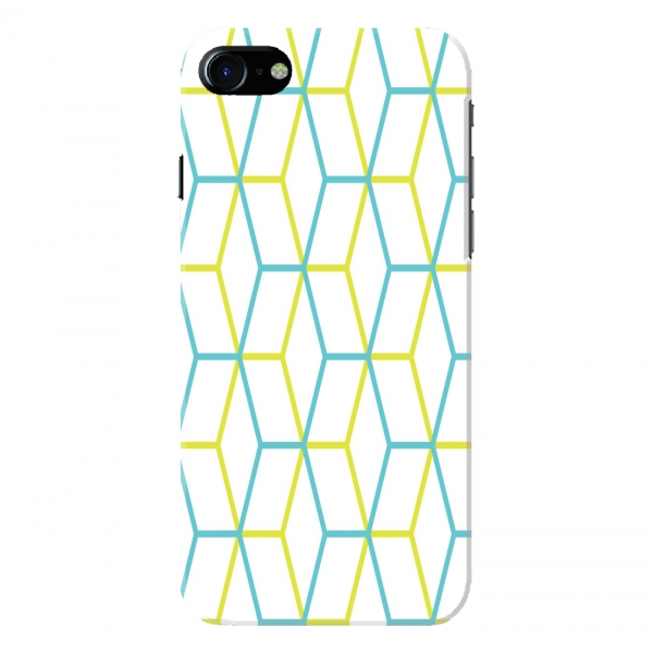 Yellow Blue Hexagonal Pattern
