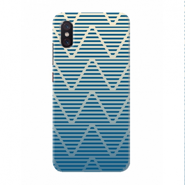 Blue Zigzag Wavy Design