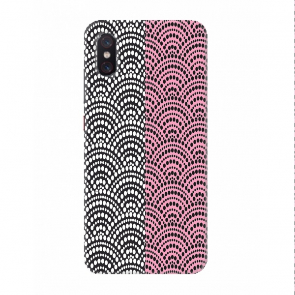 Pink Black Half Dotted Pattern