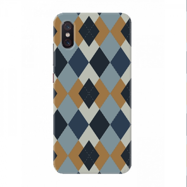 Blue & Dark Grey Geometric Design