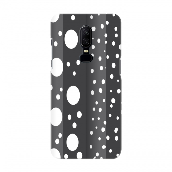Black White Polka Pattern Mobile Cover For Oneplus 6 Mobiles In