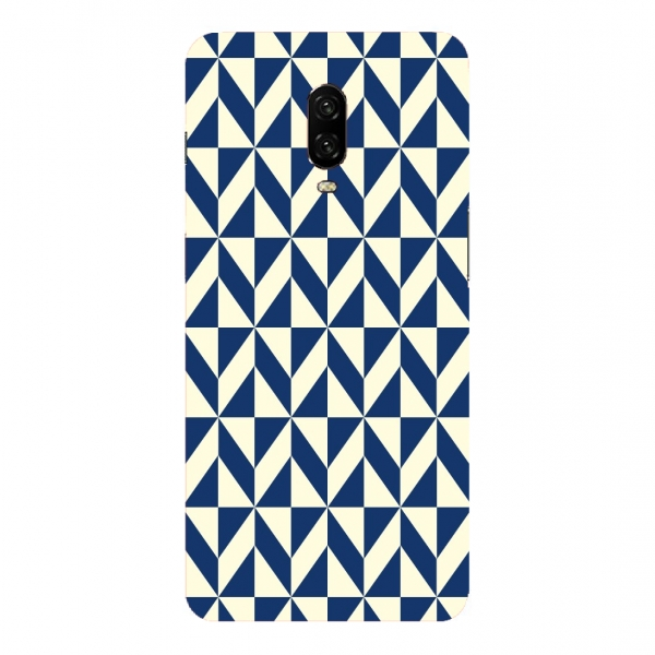Blue Beige Geometric Pattern