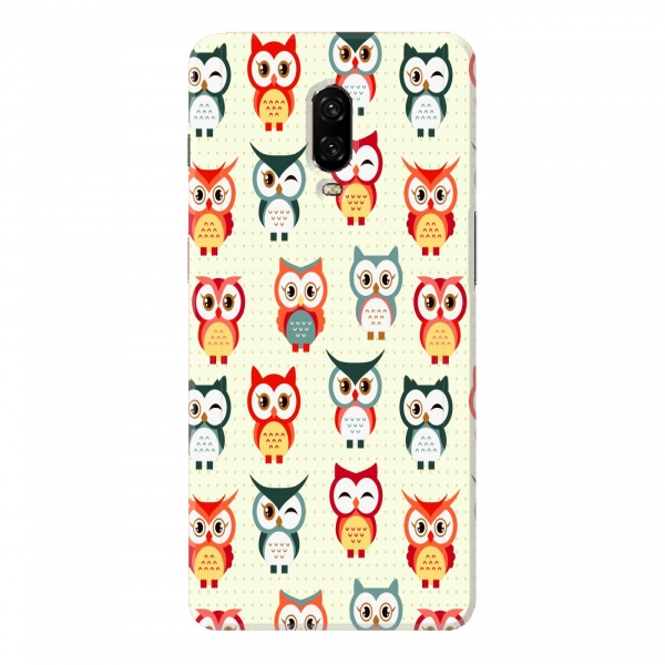 Red Blue Owl Pattern