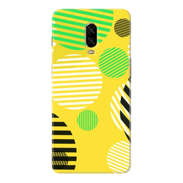yellow abstract circles with stripes