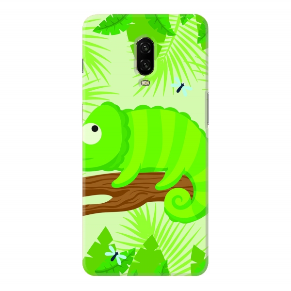 Cameleon With Forest Background