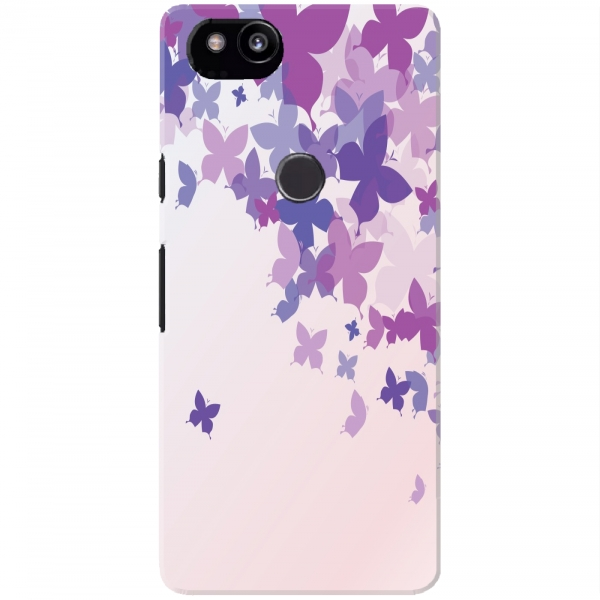 Beige Purple Butterfly Pattern