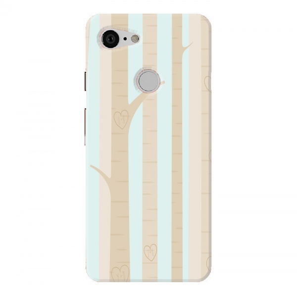 Beige Green Wood Pattern