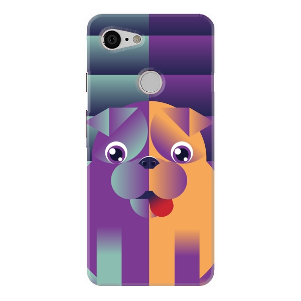 Colourful Puppy Face Pattern