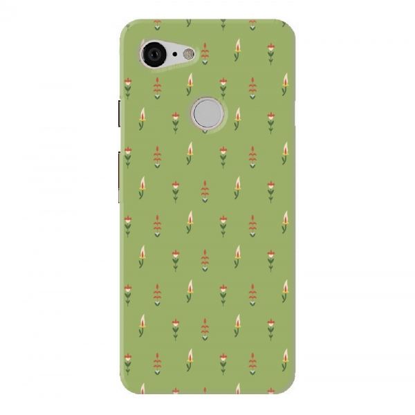 Green Floral Buds Pattern