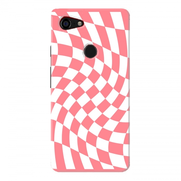 Pink White Chess Pattern