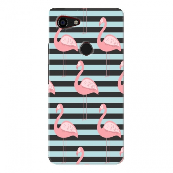 Pink Flamingo Stripes Background