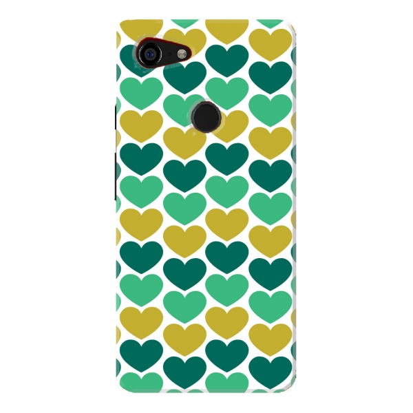 Green Geometric Heart Pattern