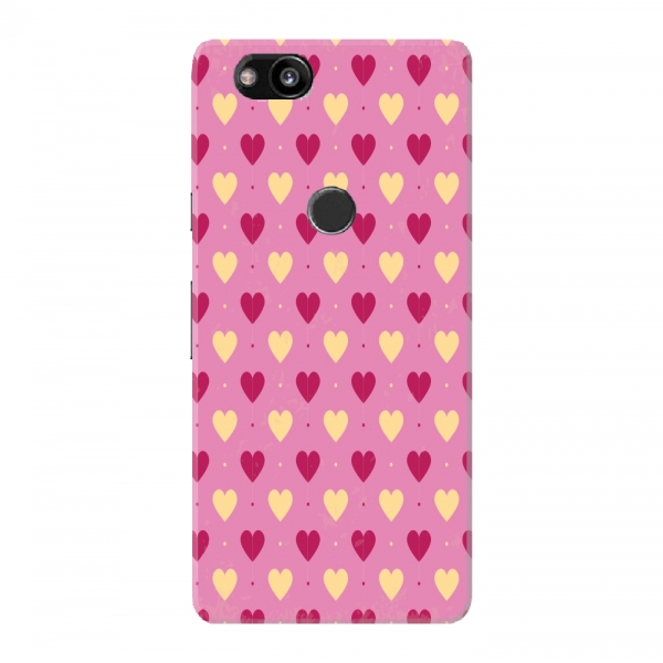 Pink White Hearts Background