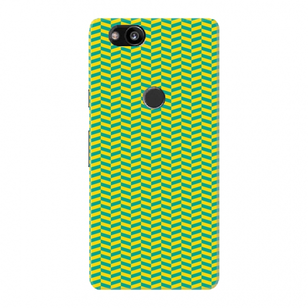 Green Yellow Herringbone Pattern