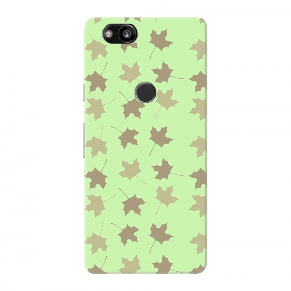Grey Leaf Floral Pattern
