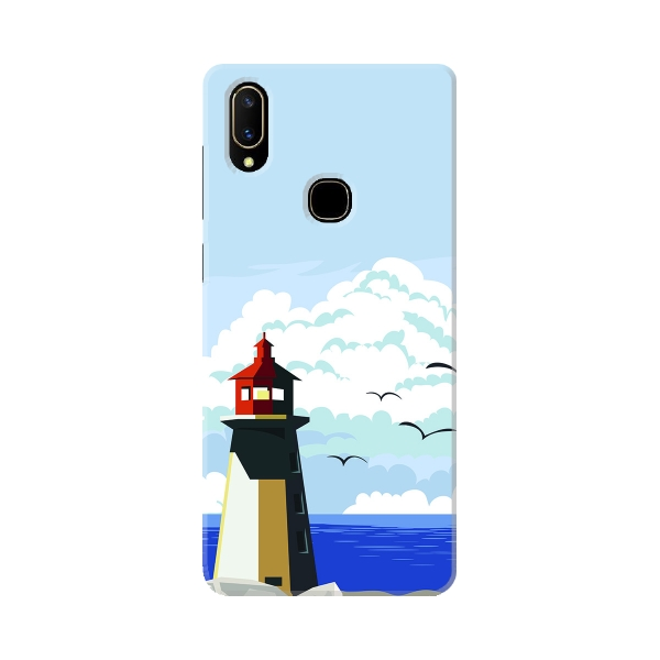 Lighthouse In Cove With Sea View