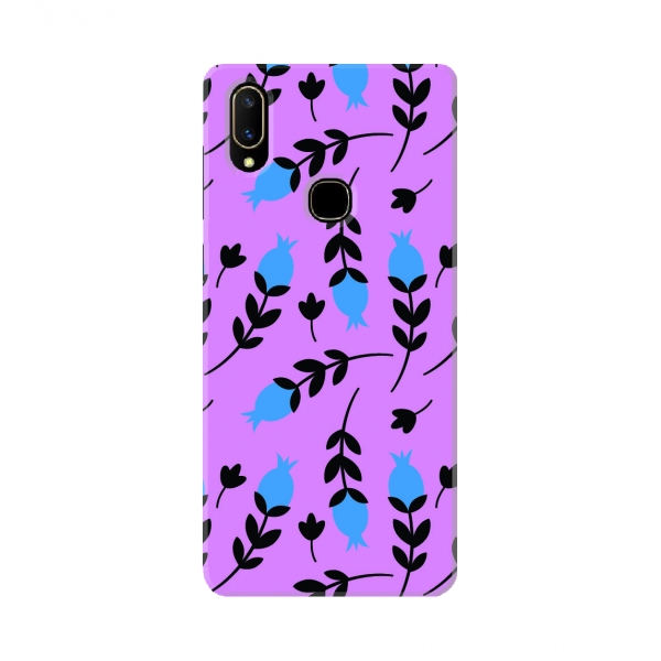 Purple And Blue Floral Pattern set03