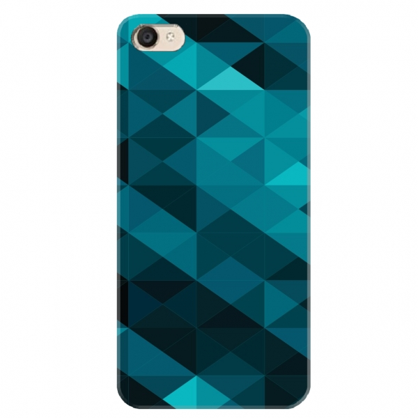 Teal Polygon Background