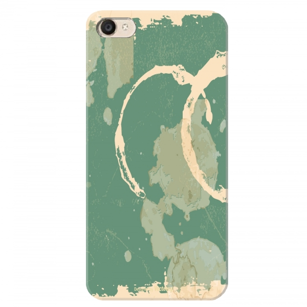 Dark Green Beige Watercolour Print