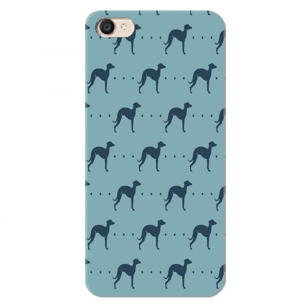 Repeating Whippet Dog Icon Pattern05