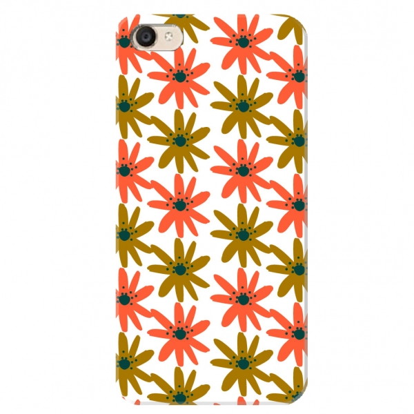 Orange Floral Pattern Set01