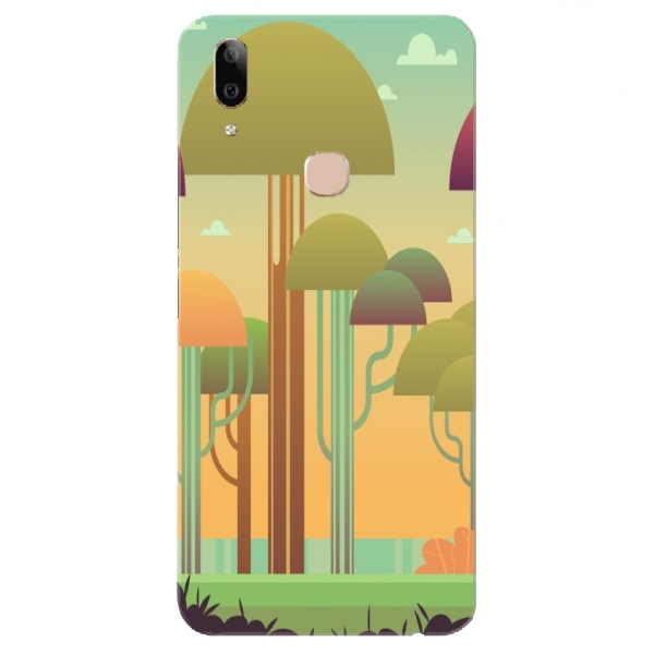 Colourful Abstract Mushroom Pattern